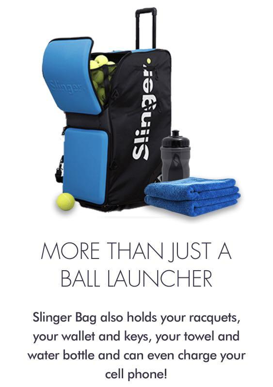 Slinger T One Launcher Tennis Ball Machine More Sports Sports Games Equipment On Carousell