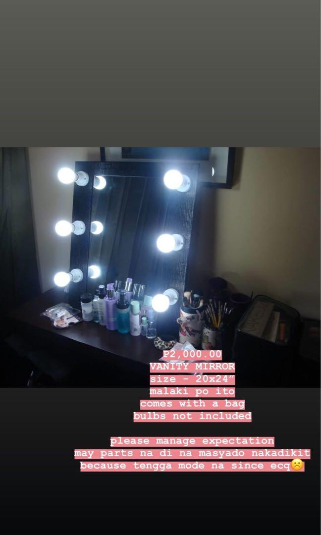 Big Vanity Mirror Health Beauty Makeup On Carousell