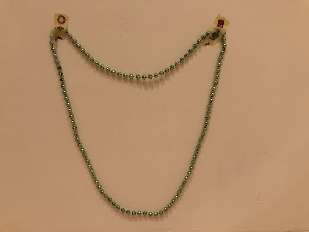 塑膠珠珠串項鍊