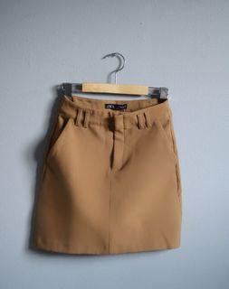 ZARA Camel Skirt with Pockets