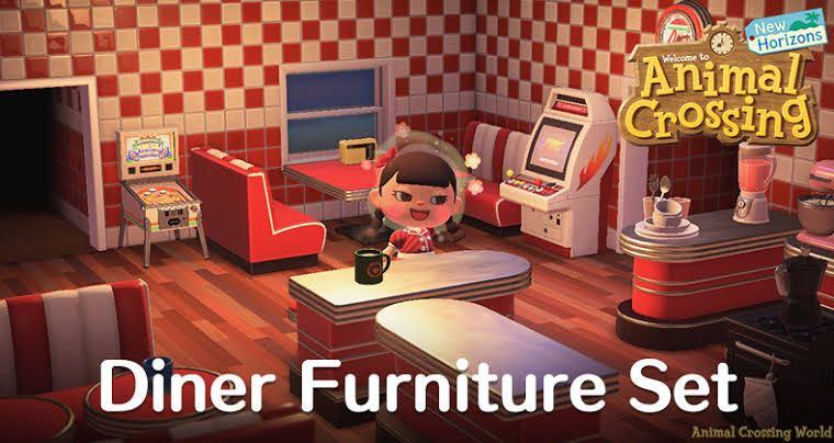 Diner Furniture Set (All Colors) Animal Crossing: New Horizons