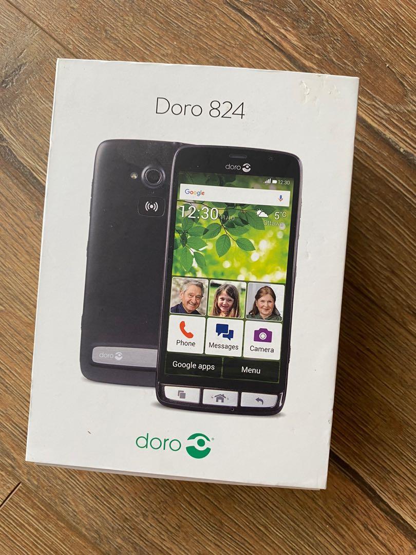 Doro 824 Senior-Friendly, Easy To Use Android Smartphone - Black
