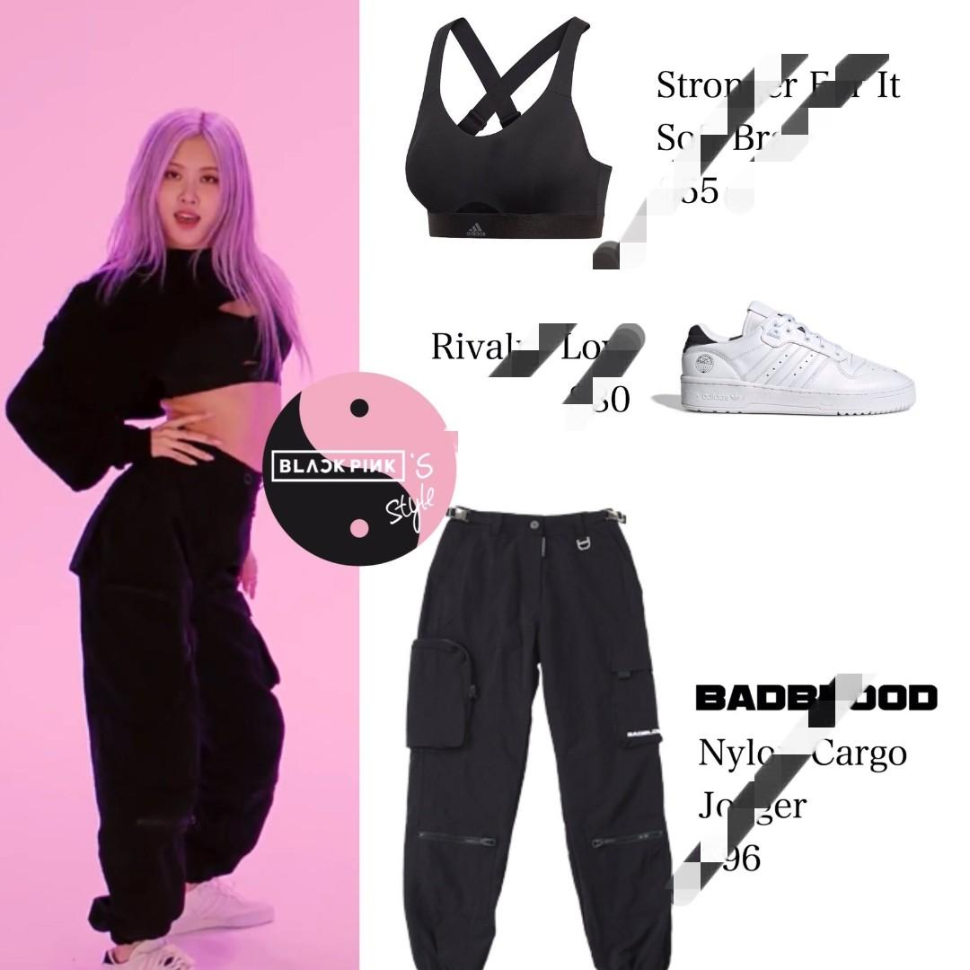 Po Blackpink Rose Rose How You Like That Dance Practice Full Outfit Anh Apparel Entertainment K Wave On Carousell