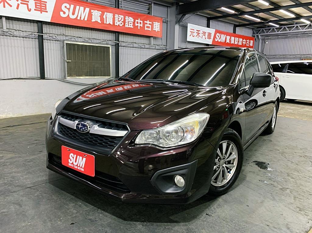 正2013年 新款 Suburu Impreza 1.6升 稀有五門掀背車 自然進氣 曜石黑紫色 頂級款五人座