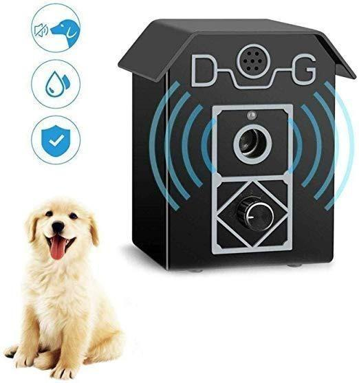 Safe for Small Medium and Large Dogs ULTPEAK Anti Barking Device New Ultrasonic Bark Control for Outdoors and Indoors with 3 Adjustable Modes Waterproof Dog Barking Control