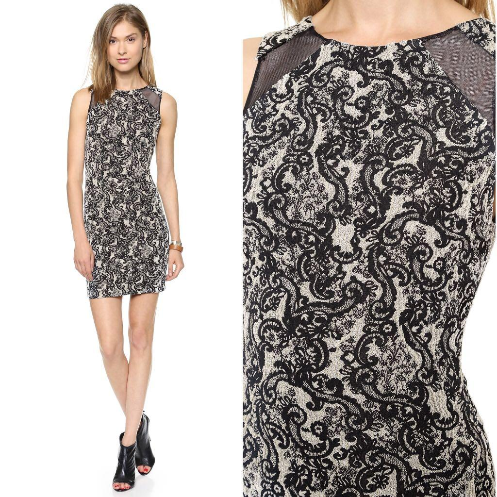 Alice Olivia shoulder cutout shift dress