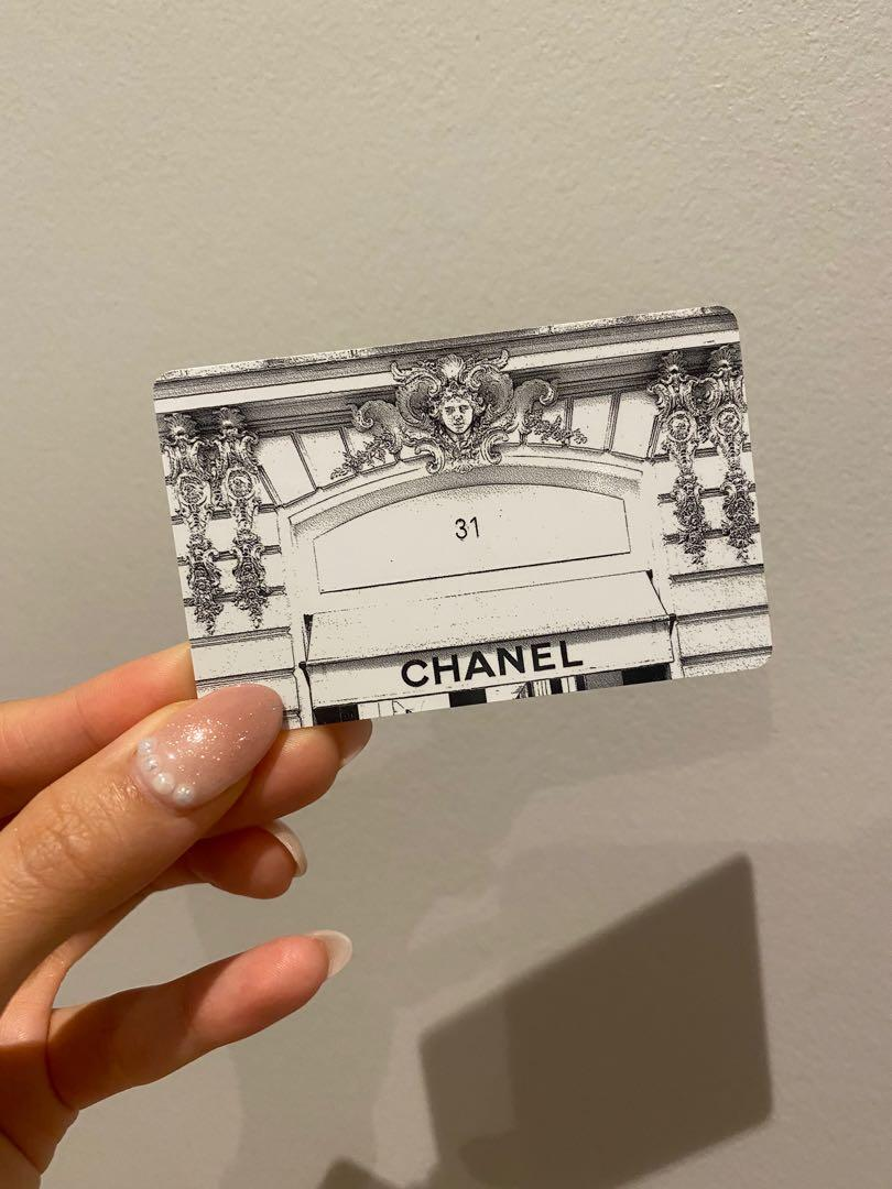 Authentic Chanel gift card
