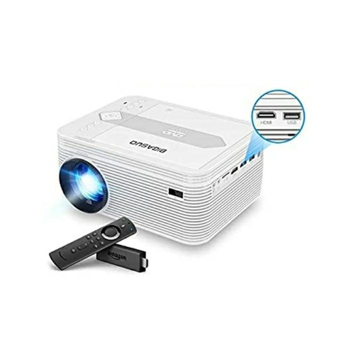 BIGASUO Mini Bluetooth Projector with DVD Player, 4500 Lumens Home Cinema  Projector 720P Native 1080P Full HD Supported, Compatible with iPhone, iPad,  Laptop, TV Box, HDMI, VGA, SD, USB, AV, Home Appliances,