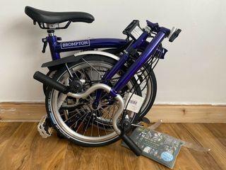 Brompton M6L 2020 Folding Bike Purple Metallic WORLDWIDE DELIVERY