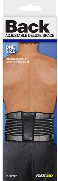 Flex Aid Back Adjustable Deluxe Support Brace (Size OS)