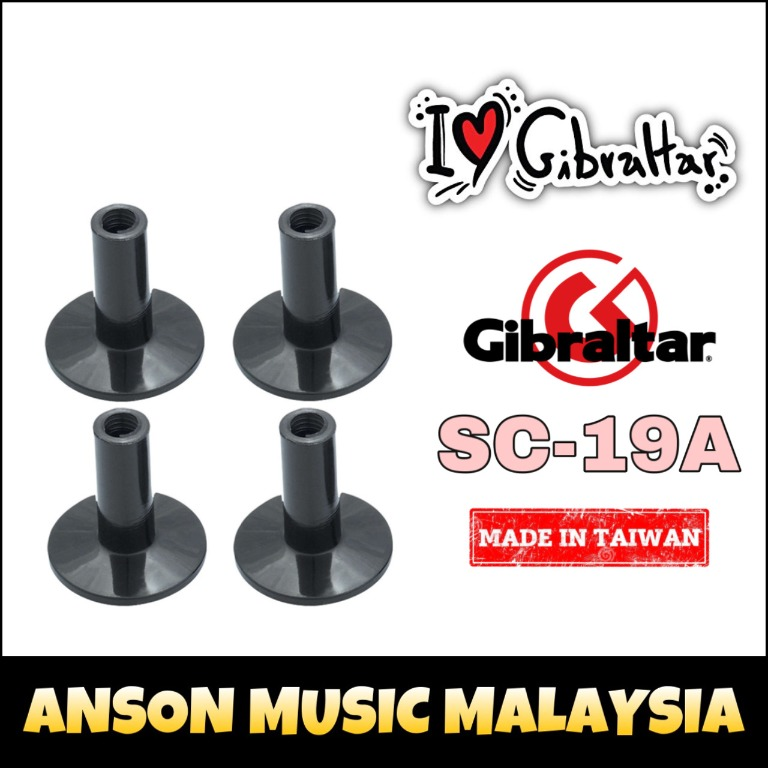 4 #SC-19A Gibraltar 8mm Flanged Base Tall Cymbal Sleeves NEW