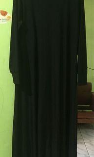 #LebihNyaman long dress / gamis hitam jersey