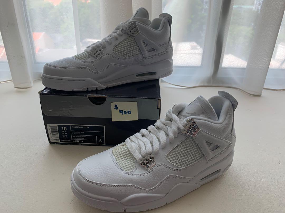 "Moving Sale: Air Jordan 4 Retro ""Silver"