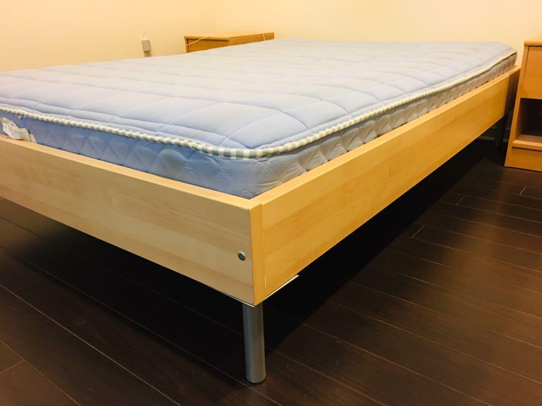 Queen IKEA Bed + free mattress