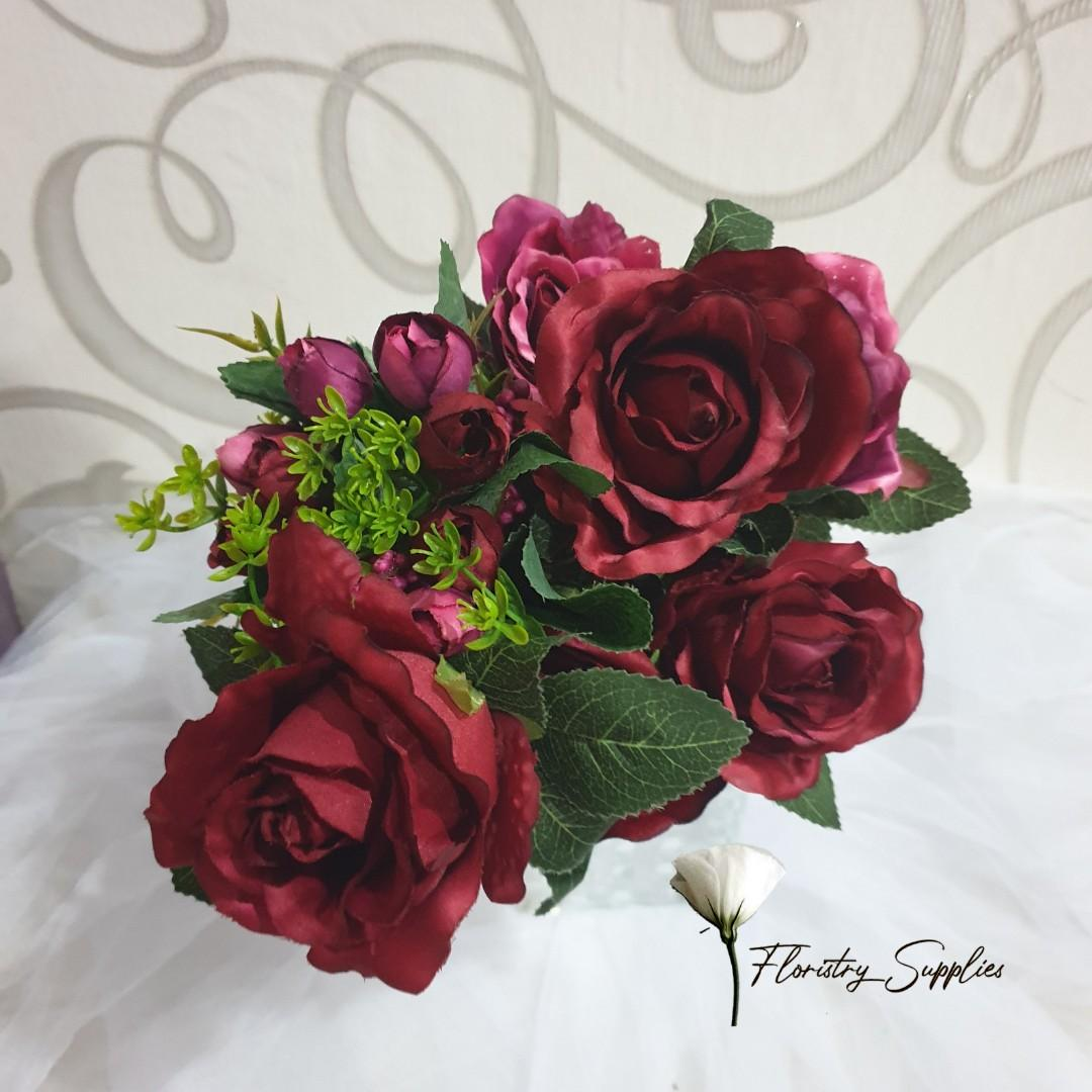 RO03 Rose Violet/Bunga Mawar Palsu/Bunga Plastik/Bunga Artificial
