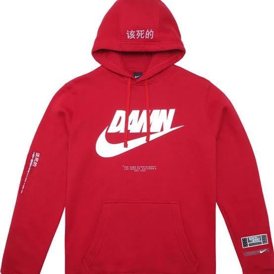 Guardería Cortar Pigmento  TDE Kendrick Lamar d a m n Nike hoodie, Men's Fashion, Clothes, Tops on  Carousell