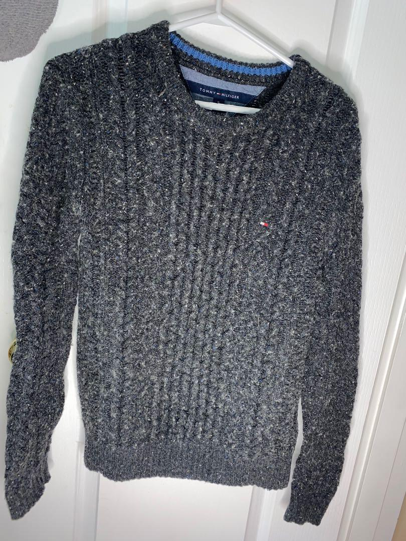 Tommy Hilfiger grey knit top