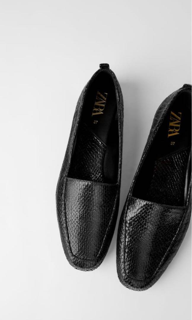 Zara Black Flats, Women's Fashion