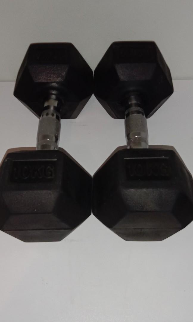 2x 10kg dumbell set