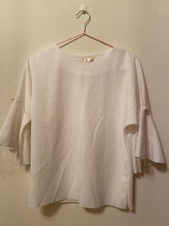 白色-厚雪紡珍珠上衣