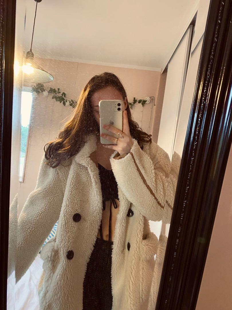 Boohoo oversized teddy coat