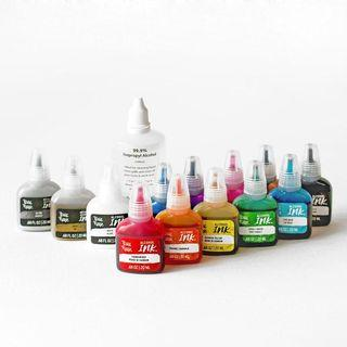 Brea Reese Alcohol Inks - Box Set of 13 Colours with Blending Solution