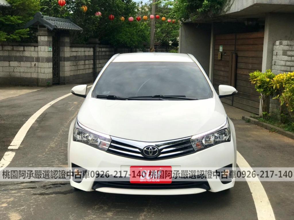 【FB搜尋桃園阿承】豐田 超人氣ALTIS S+ 2016年 1.8CC 白色 二手車 中古車