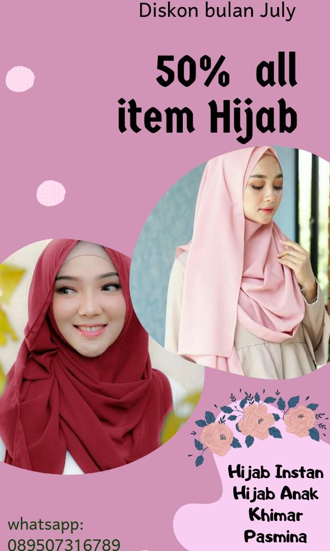 Hijab Instan Hijab Anak Khimar Fesyen Wanita Muslim Fashion Syal Di Carousell