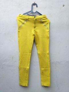 Jegging Zara Yellow Pants Size XS