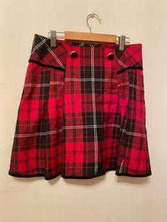 #new start -MA•TSU•MI. 紅格紋短裙