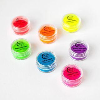 Neon Powder Pigment Set - Set of 7 Colours