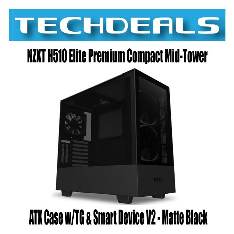 Nzxt H510 Elite Premium Compact Mid Tower Atx Case W Tg Smart Device V2 Matte Black Electronics Computer Parts Accessories On Carousell