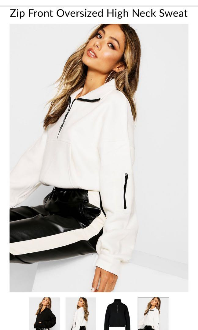 Pretty little thing white pull over