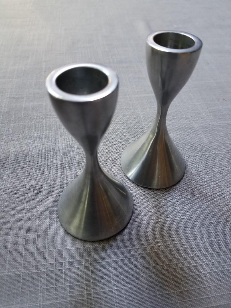 Umbra aluminum candle stick holders