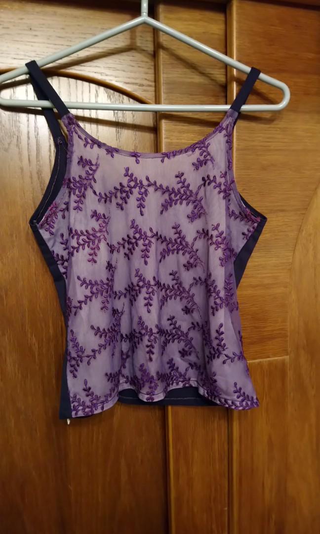 💔紫細肩帶上衣