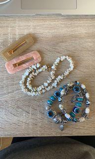 accessories // necklace clips bracelets
