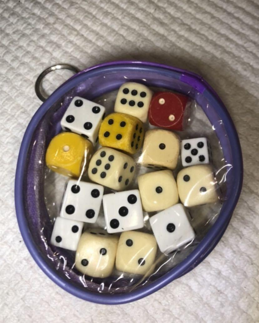 BAYVIEW/EGLINTON PICKUP. Assorted dice
