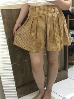 Brown Polkadot Skirt - Rok Polkadot Coklat