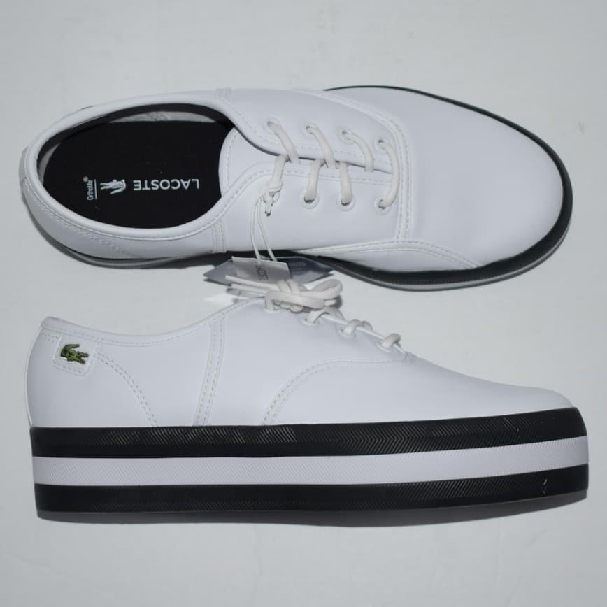 Lacoste Womens Rene Platform Leather Trainers