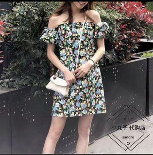 Maje flower summer dress size 1