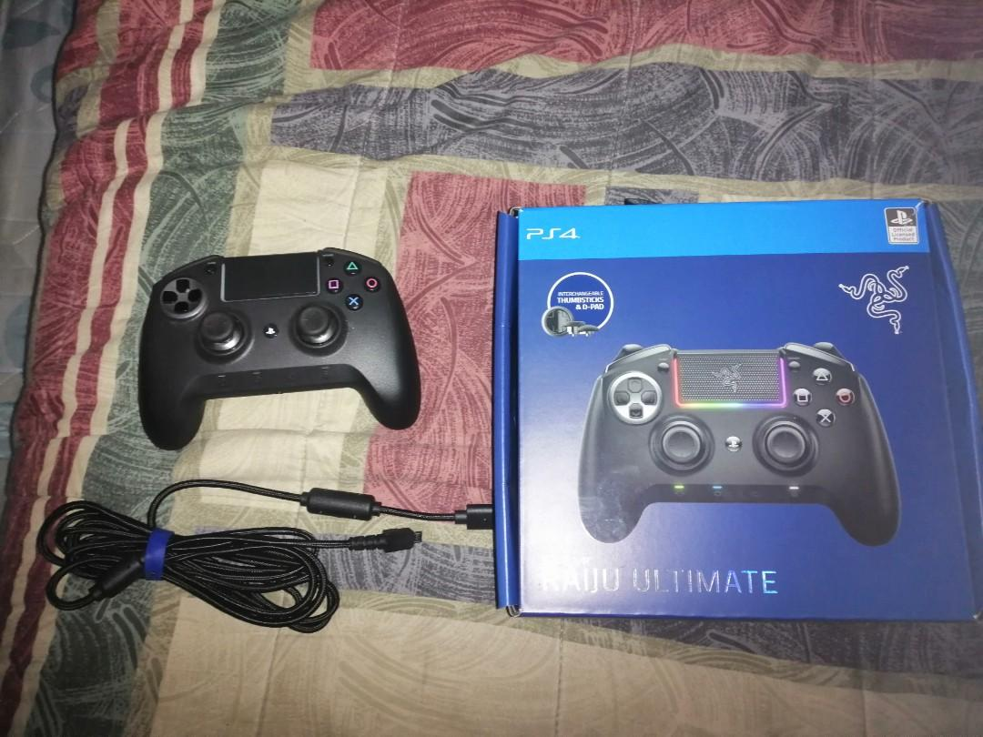 Razer Raiju Ultimate For Ps4 And Pc Video Gaming Gaming Accessories On Carousell 26 results for razer raiju for ps4 gaming controller. carousell
