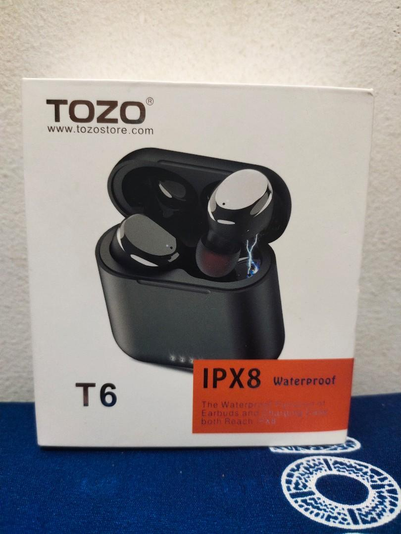 Tozo T6 True Wireless Earbuds Bluetooth Headphones Touch Control With Wireless Charging Case Ipx8 Waterproof Tws Stereo Earphones In Ear Built In Mic Headset Premium Deep Bass For Sport Black Electronics Audio On Carousell