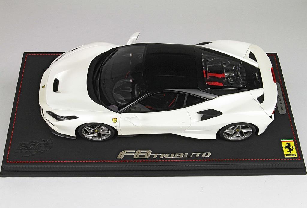 1/18 Ferrari F8 Tributo Gloss Fuji White Black Roof by BBR ...