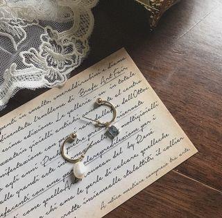 韓國珍珠寶石耳環