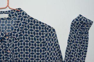 藍色復古花色襯衫