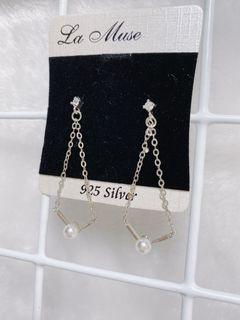 全新 韓劇金秘書銀飾耳環  耳針式