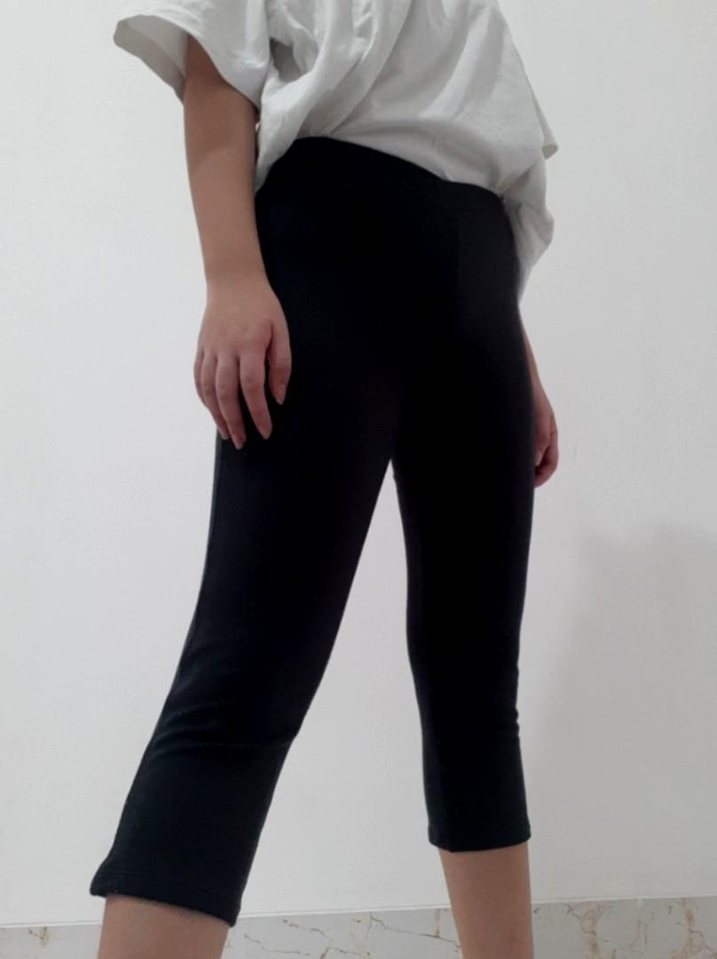 Celana Legging Hitam Olahraga Fesyen Wanita Pakaian Wanita Bawahan Di Carousell