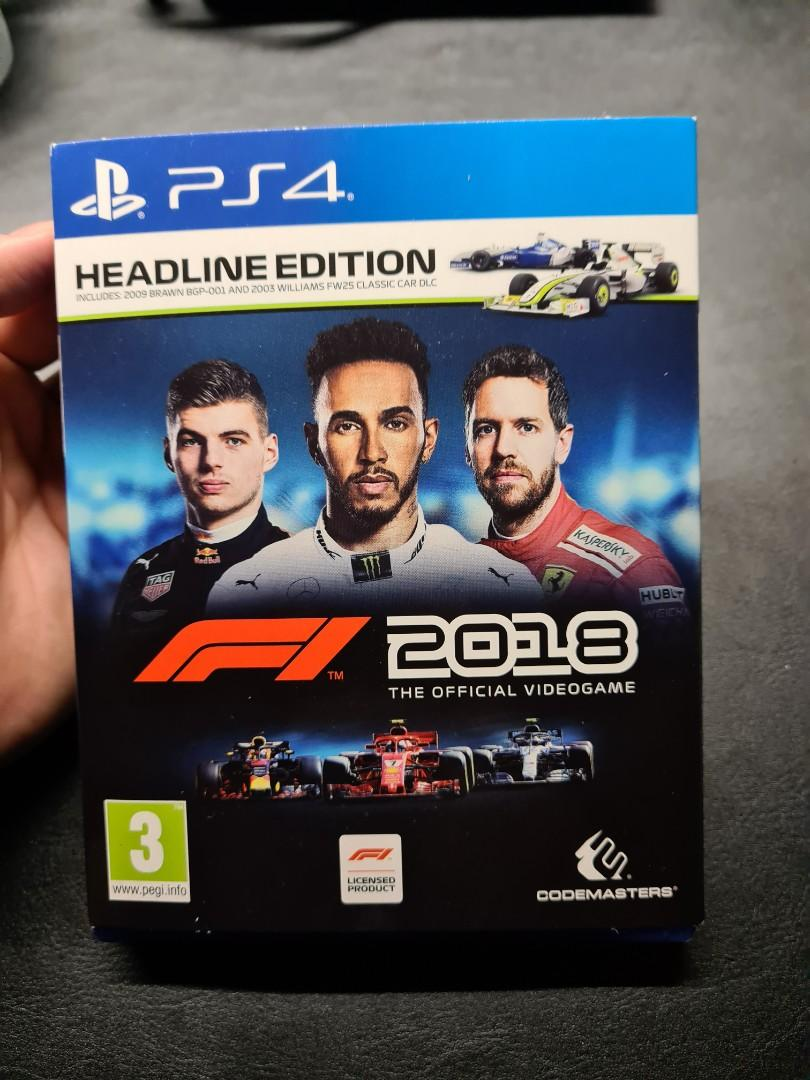 F 1 2018 Headline Edition PS4 Formula one (Good Condition)