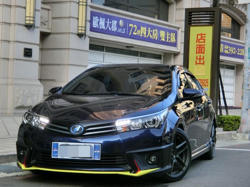 FB搜尋【世康中古車買賣】《熱門車款》2014年豐田 altis g版 1.8藍