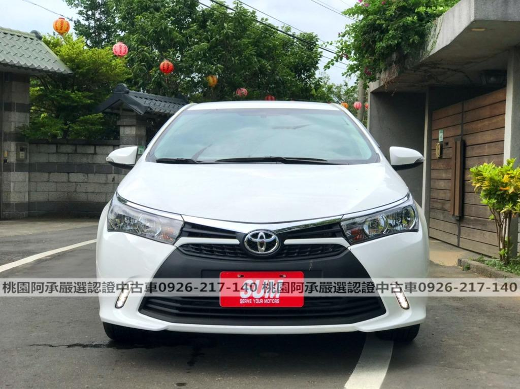 【FB搜尋桃園阿承】豐田 超人氣ALTS X 2015年 1.8CC 白色 二手車 中古車